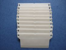 "WHITE VERTICAL BLIND BOTTOM WEIGHTS FOR WIDE (5"") & NARROW (3.5"") BLIND SLATS"